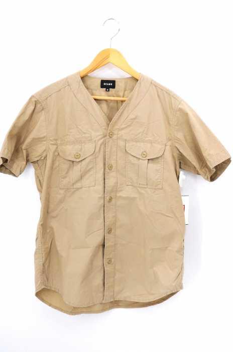 BEAMS(ビームス) ミリタリーベースボールシャツ メンズ トップス