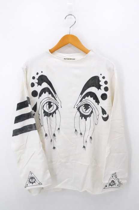 TIGRE BROCANTE(ティグルブロカンテ) Elyse Rainbolt ハンドプリントロングスリーブTシャツ メンズ トップス