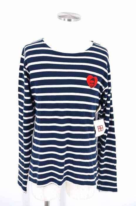 APPLEBUM (アップルバム) ワッペン付きボーダーロングスリーブTシャツ メンズ トップス