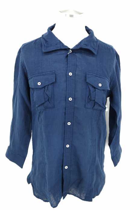 ABAHOUSE(アバハウス) リネン平織りスタンドシャツ メンズ トップス