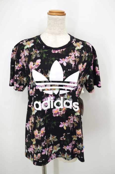 adidas Originals (アディダスオリジナルス) ORCHID BF TEE 花柄トレフォイルロゴTシャツ レディース トップス