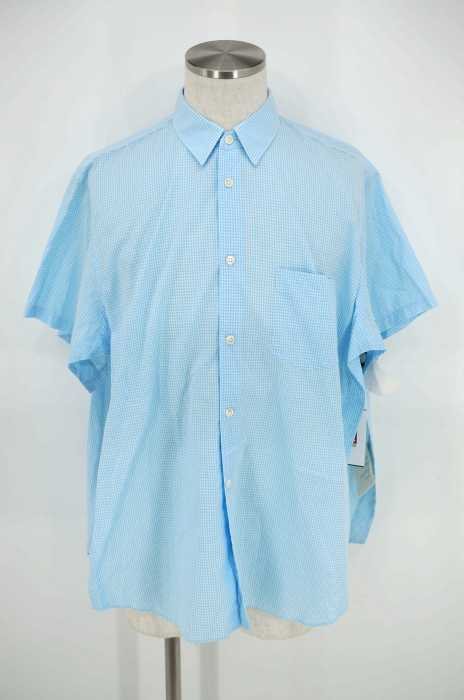 COMME des GARCONS SHIRT (コムデギャルソンシャツ) ギンガムチェックスリットシャツ ポンチョ メンズ トップス