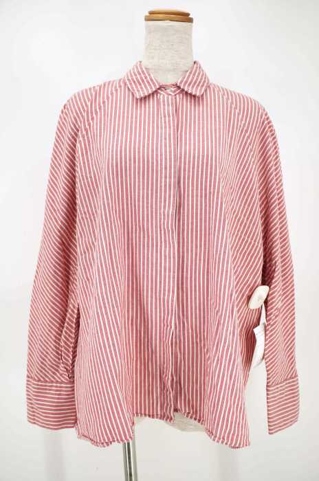 ZARA TRF (ザラティーアールエフ) STRIPED SHIRT WITH BUTTONS レディース トップス
