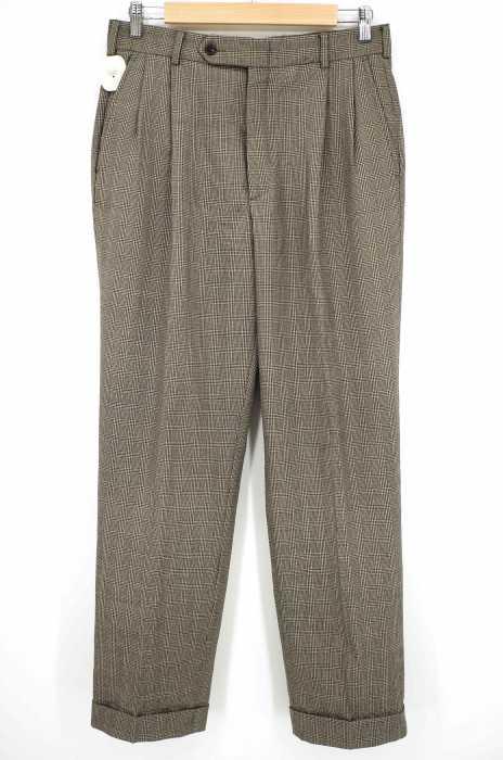 NAUTICA (ノーティカ) チェック柄タックスラックス メンズ パンツ