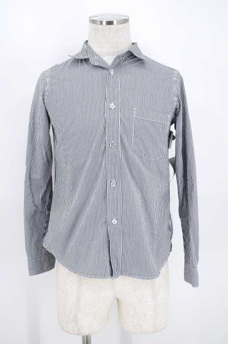 RINEN (リネン) TRIP 80/2ダウンプルーフ ストライプ レギュラーカラーシャツ メンズ トップス