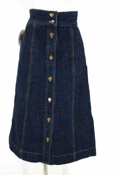 Ray BEAMS (レイビームス) デニムボタンフライスカート レディース スカート