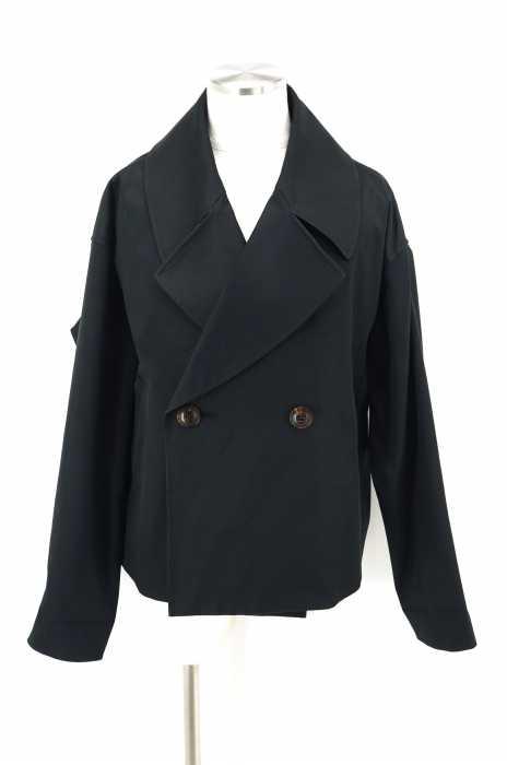 Dessin de mode (デッサンドモード) short trench coat -W cross cotton メンズ アウター
