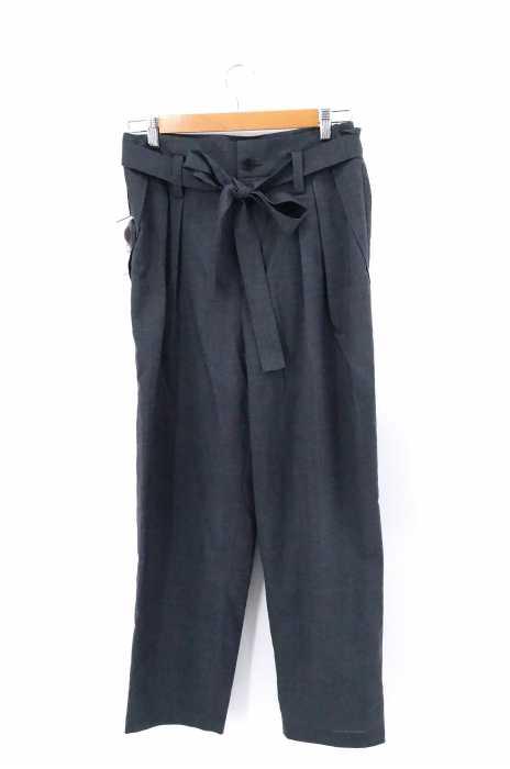 EN ROUTE (アンルート) ウールエステルトロ ベルテッド 2プリーツ メンズ パンツ