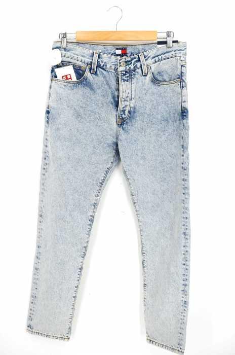tommy jeans(トミージーンズ) ボタンフライアイスウォッシュデニムパンツ メンズ パンツ