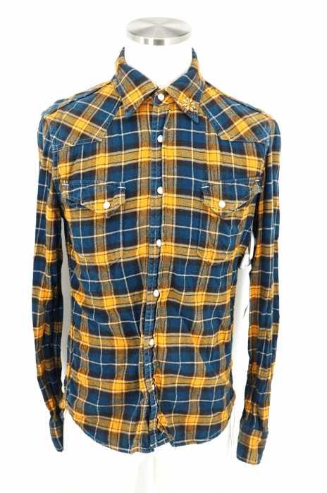 REMI RELIEF (レミレリーフ) コンチョ付きウエスタンネルシャツ メンズ トップス