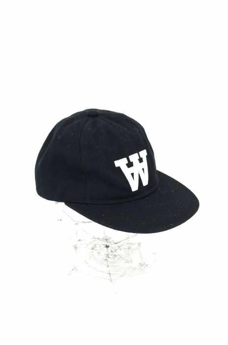 WOOD WOOD(ウッドウッド) ロゴ刺繍6パネルキャップ メンズ 帽子