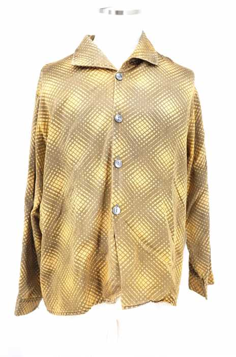 USED (ブランド不明) ワイドカラー総柄ボタンシャツ メンズ トップス