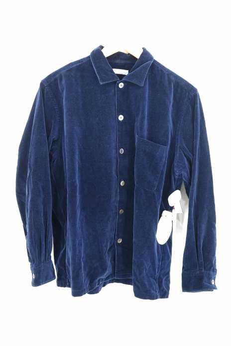 COMME des GARCONS HOMME (コムデギャルソンオム) AD2002 ベルベットシャツ メンズ トップス