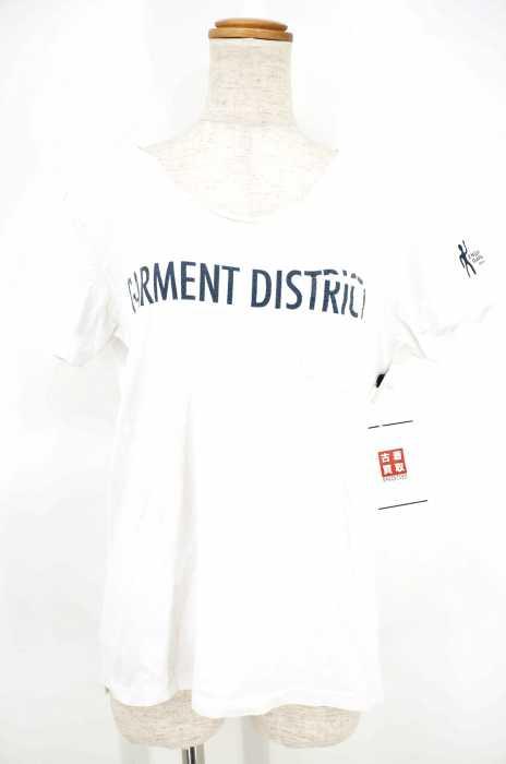 FWK by Engineered Garments (エフダブリューケイバイエンジニアドガーメンツ) 切りっ放し ポケット付Tシャツ レディース トップス