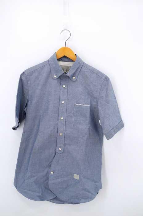 A(LefRUDE)E(アレフルード) 半袖ボタンダウンシャツ メンズ トップス