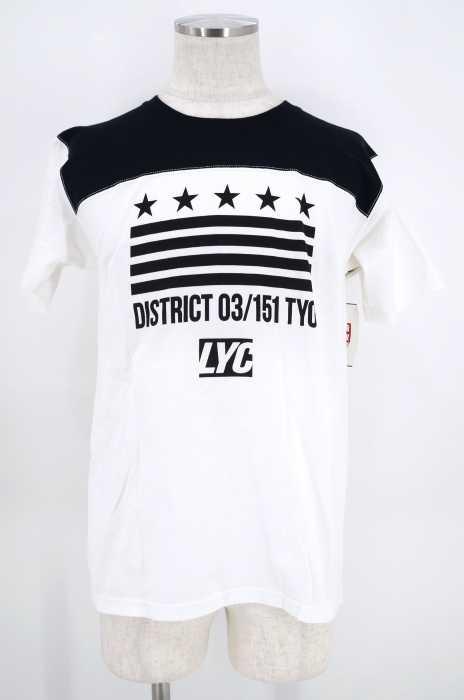 LIBERTY CITY (リバティーシティ) ロゴバイカラーTシャツ メンズ トップス