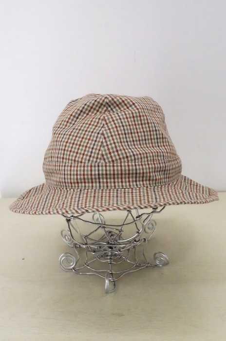 DE BONNE FACTURE(デ ボン ファクチャー) ITALIAN CLOTH SCOTTISH CHECK BOB HAT メンズ 帽子