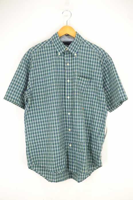 TOMMY HILFIGER (トミーヒルフィガー) チェック柄半袖BDシャツ メンズ トップス
