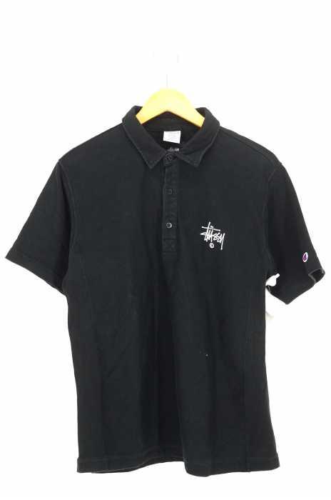 STUSSY × Champion (ステューシー チャンピオン) 胸ロゴ刺繍ポロシャツ メンズ トップス