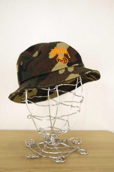 STUSSY (ステューシー) カモ柄バケットハット メンズ 帽子