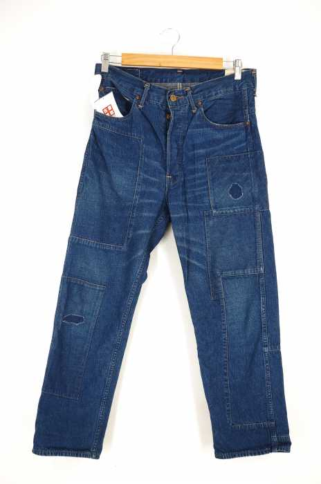 orslow × BEAMS (オアスロウ × ビームス) 別注 パッチワークデニムパンツ メンズ パンツ