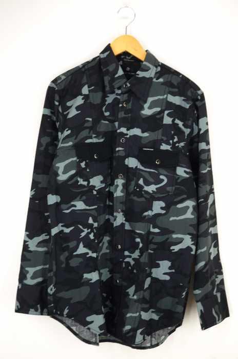 Calvin Klein Jeans(カルバンクラインジーンズ) カモ柄ウエスタンシャツ メンズ トップス