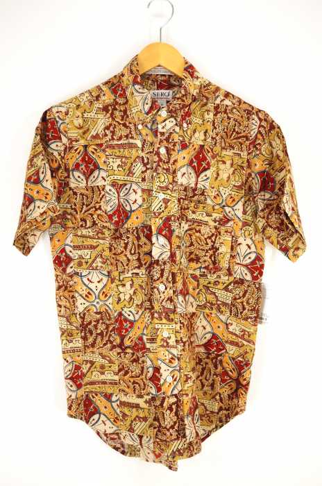 SERO  (セロ) 総柄半袖パッチワークボタンダウンシャツ メンズ トップス