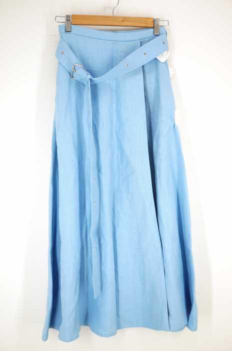 Demi-Luxe BEAMS × CINOH (チノ) 別注 リネンスリットスカート レディース スカート