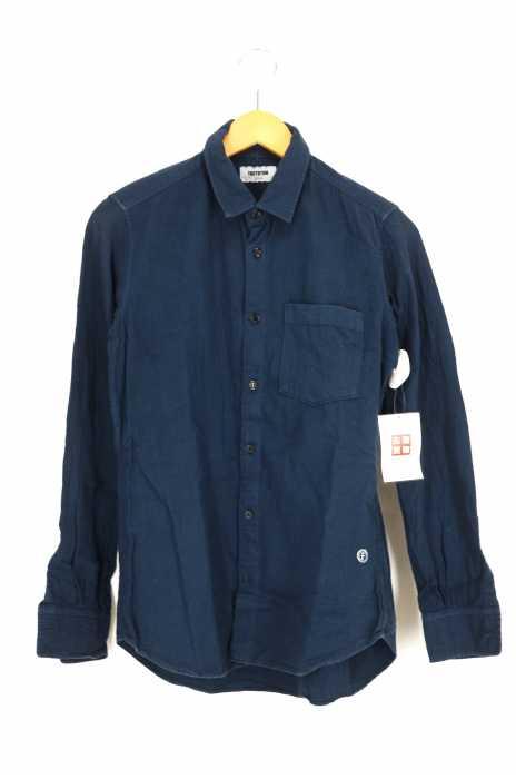 FACTOTUM (ファクトタム) 染めタックプリーツシャツ メンズ トップス