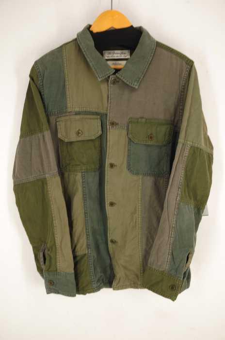 REMI RELIEF (レミレリーフ) パッチワークシャツ メンズ トップス