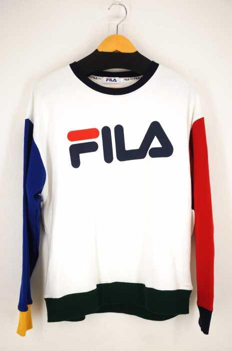 FILA (フィラ) WEGO別注 クレイジーパターンプルオーバー メンズ トップス