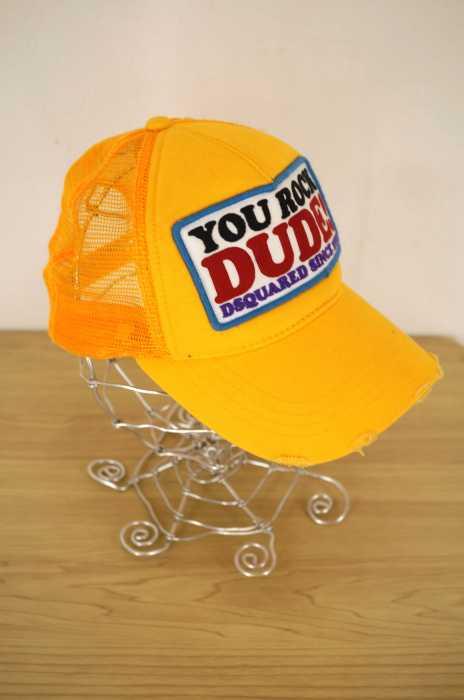 DSQUARED2 (ディースクエアード) ダメージ加工メッシュキャップ メンズ 帽子