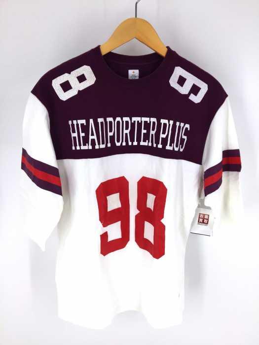 HEAD PORTER PLUS(ヘッドポータープラス) ナンバリング 7分袖クルーネックカットソー メンズ トップス