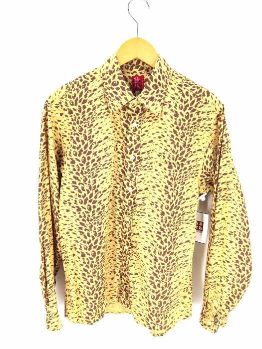 A BATHING APE (アベイシングエイプ) レオパード柄長袖コットンシャツ メンズ トップス