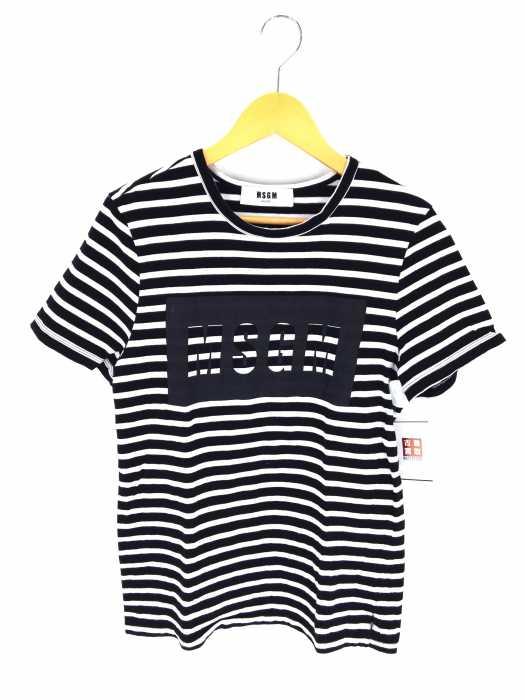 MSGM(エムエスジーエム) 17SS プリントボーダーTシャツ メンズ トップス