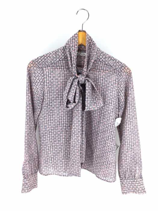 Makers Shirt 鎌倉(メーカーズシャツカマクラ) 総柄リボンブラウス レディース トップス