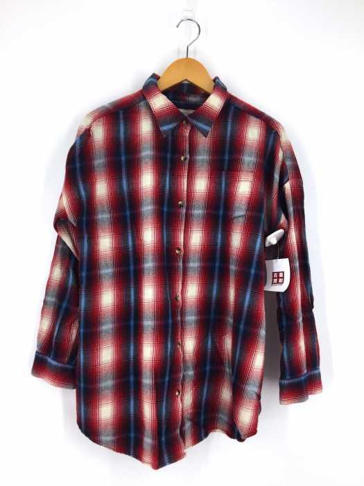 Ungrid (アングリッド) ワイドシルエットチェックネルシャツ レディース トップス