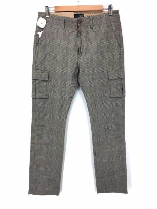 BEAMS  (ビームス) グレンチェック柄ストレッチカーゴパンツ メンズ パンツ