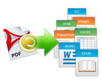 PDF ファイルを多様な形式に変換