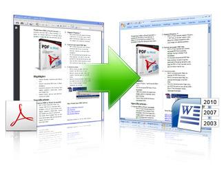 PDFデータをWordに変換。暗号化したPDFファイル変換可能!