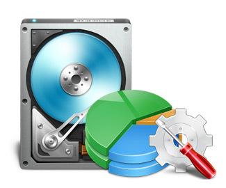 お持ちのディスクをパーティションし、フォーマットし、クリーン