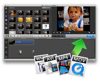 多様な動画・音声・写真形式の入力・編集に対応