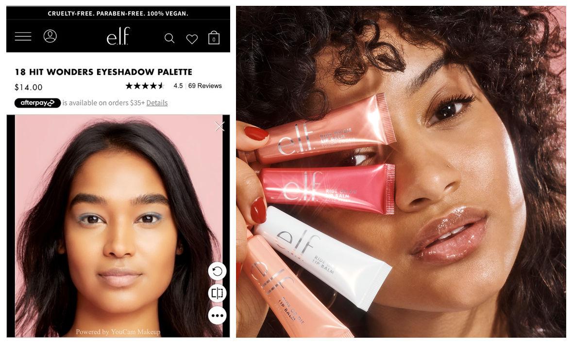 e.l.f. cosmetics virtual try on