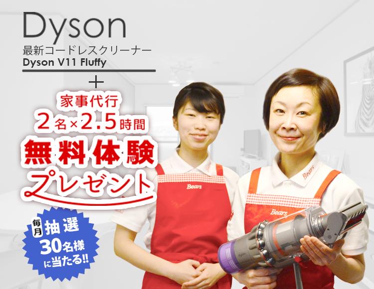 家事代行2.5時間+Dyson最新コードレスクリーナー無料体験プレゼントsp