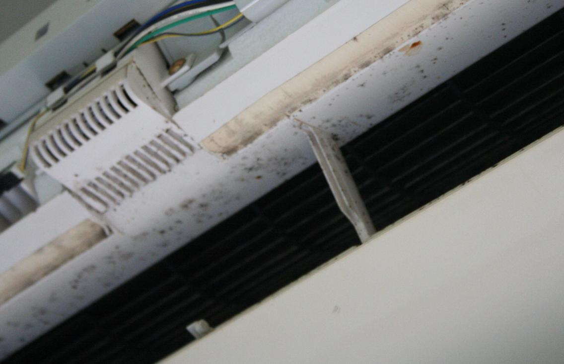 エアコン清掃前のルーバー写真