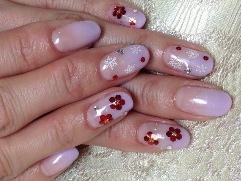 梅の花ネイル
