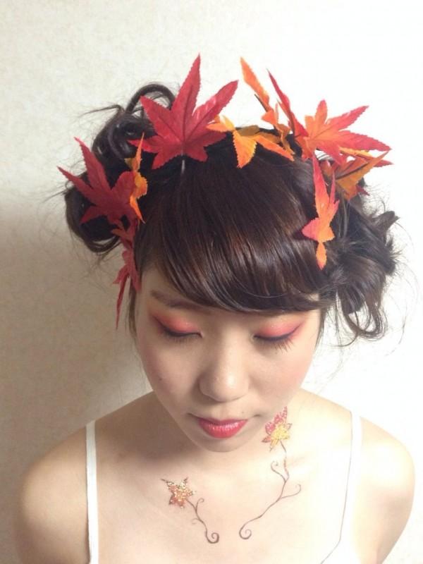 紅葉と読書の秋