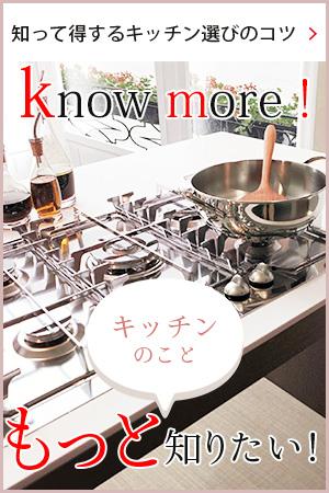 もっと知りたい!〜知って得するキッチン選びのコツはこちら〜