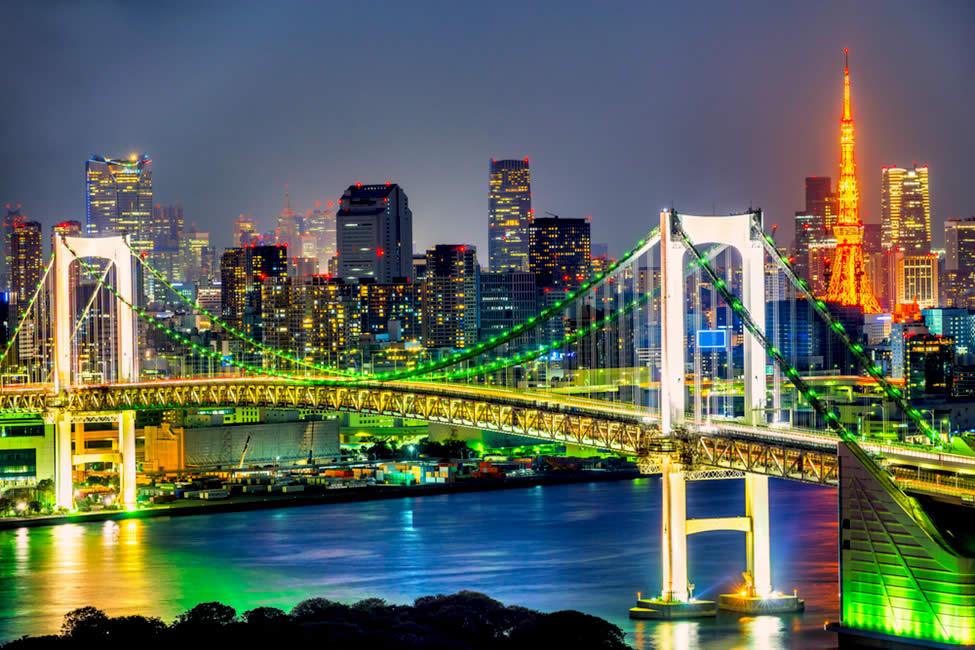 The Colorful And Vibrant Rainbow Bridge Of Tokyo Yabai