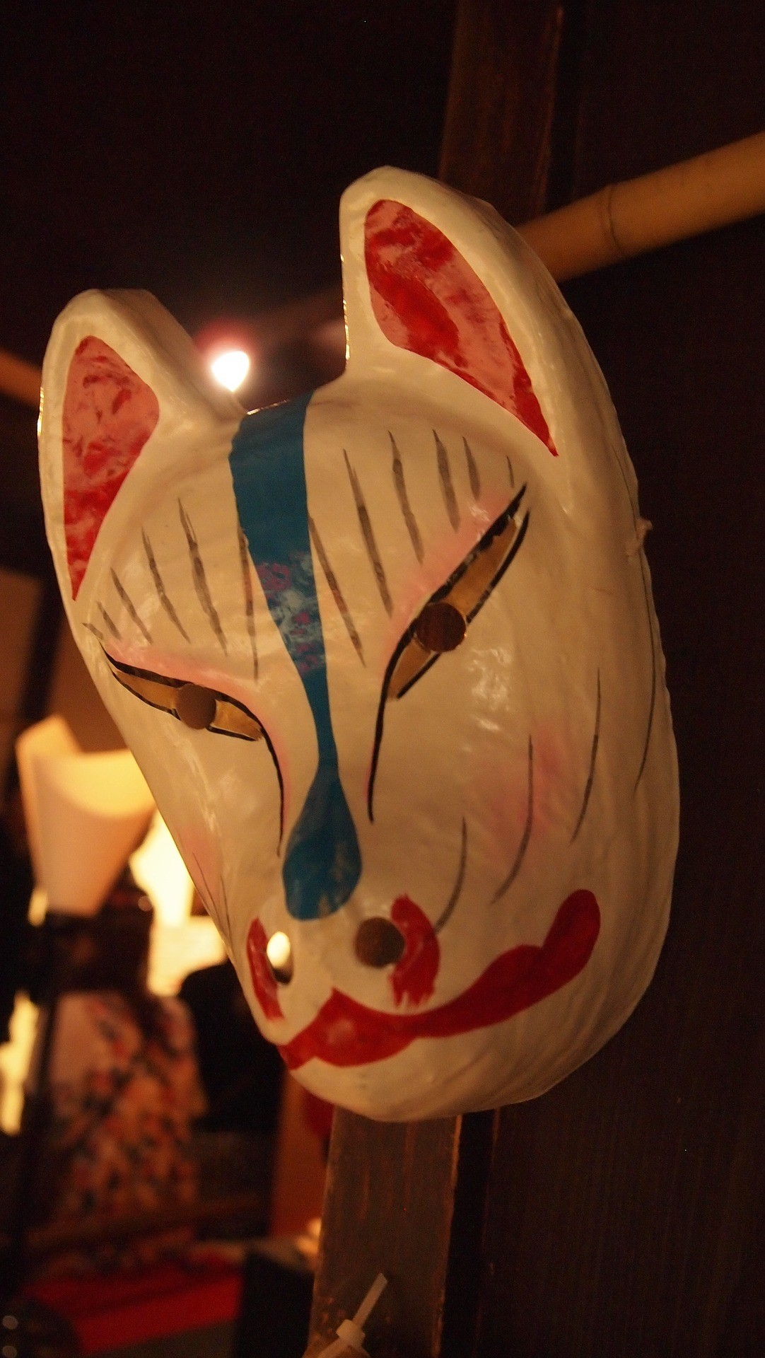 New Years masks with their own hands